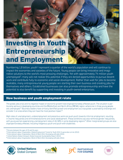 Investing in Youth Entrepreneurship and Employment
