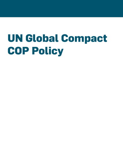 UN Global Compact Policy on Communicating Progress