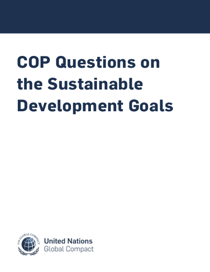 COP Questions on the Sustainable Development Goals