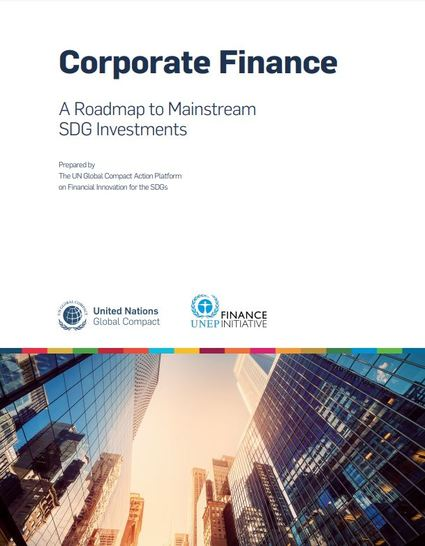Corporate Finance: A Roadmap to Mainstream SDG Investments