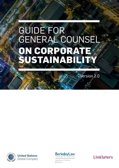 Guide for General Counsel on Corporate Sustainability Version 2.0