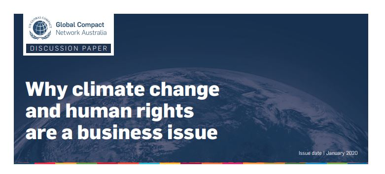 Why Climate Change and Human Rights are a business Issue